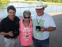 "<p><span style=""font-size: 1em; background-color: transparent;"">Margy Agar and her son Chris visited with Gov. Rick Perry in Hawkins last month at a camp for Gold Star Families, a support organization.</span></p>"