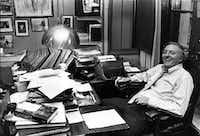 "<p>Author and conservative commentator William F. Buckley Jr. in his Manhattan office in 1980.&nbsp;<span style=""font-size: 1em; background-color: transparent;"">Through </span><em style=""font-size: 1em; background-color: transparent;"">National Review</em><span style=""font-size: 1em; background-color: transparent;"">, his magazine, he gave a hidden American intelligentsia a platform to develop conservative ideas.</span></p>(New York Times File photo&nbsp;)"