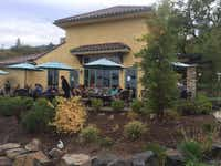 Visitors at Dancin Vineyards enjoy outdoor dining paired with their favorite Dancin wines.(Wendy Smiley)