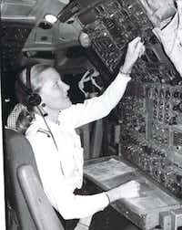Beverley Bass is pictured here early in her career for American Airlines, where she worked as a flight engineer, a pilot and eventual as the first female captain for the carrier.(Courtesy photo/Courtesy photo)