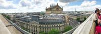 A panoramic view of Paris taken from the roof of Galeries Lafayette department store on Boulevard Hausmann(Leslie Brenner/Staff)