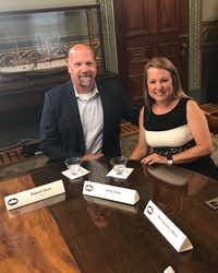 Robert and Amy Dean of Fort Worth were among several families to meet with Vice President Mike Pence at the White House on June 26, 2017, to discuss health care. (Robert Dean)