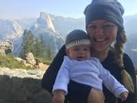 Lesley Zerebny and her baby, Cora, shortly before the young mother and police officer was shot and killed last fall in the line of duty in Palm Springs.(David Kling)