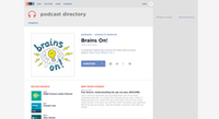 Brains On! podcast website