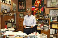 Dallas County Commissioner John Wiley Price works in his office on April 29, 2017, in Dallas. Price didn't wait to get back to business as usual after he was acquitted of bribery(Irwin Thompson/Staff Photographer)