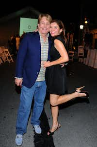 Paul Neinast and Janet LaBarba at Fashion's Night Out 2011 at Highland Park Village (Kristina Bowman/Special Contributor )
