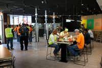 Customers eat in a remodeled dining room at a McDonald's restaurant in Chicago. (AP/Charles Rex Arbogast)