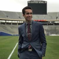 Zak Chaouki during his tour of the Cotton Bowl, from his Twitter account