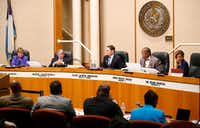 "<p><span style=""font-size: 1em; background-color: transparent;"">A file photo of a Dallas County Commissioners Court meeting in Dallas, Tuesday, May 2, 2017. (Jae S. Lee/The Dallas Morning News)</span></p>"