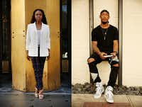 <p></p><p>Ashli King (left) a personal wardrobe stylist at Neiman Marcus, was photographed along Main Street. Carlos Harris, a lifestyle, fashion, fitness blogger, was photographed in the alley connecting Commerce and Main Streets. Both were photographed on  July 11.</p>(Andy Jacobsohn /Staff Photographer)