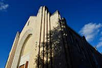 Arts Mission Oak Cliff is in the former Winnetka Congregational Church building. The original Art Deco-influenced style was preserved during restoration. Now, inside, one can find a theater, arts studios and work spaces.(Ben Torres/Special Contributor)