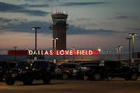 Air traffic control tower and parking lot at Love Field on Wednesday, June 7, 2017, in Dallas. (Smiley N. Pool/The Dallas Morning News)(Smiley N. Pool/Staff Photographer)