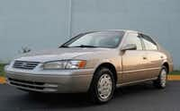 The suspect, Jerry Raymond Riedel, may be driving a silver 1997 Toyota Camry like the one pictured.(Dallas police)
