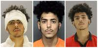 """<p><span style=""""font-size: 1em; background-color: transparent;"""">In January, Alberto Martinez lead police on a chase in a stolen vehicle, crashed into another vehicle and flipped the car onto train tracks. His ear was damaged in the crash and was wrapped in the mugshot on the left. He was recently arrested again in connection with the fatal shooting of two young men from Mesquite. <em style=""""font-style: italic;"""">&nbsp;</em></span></p>"""