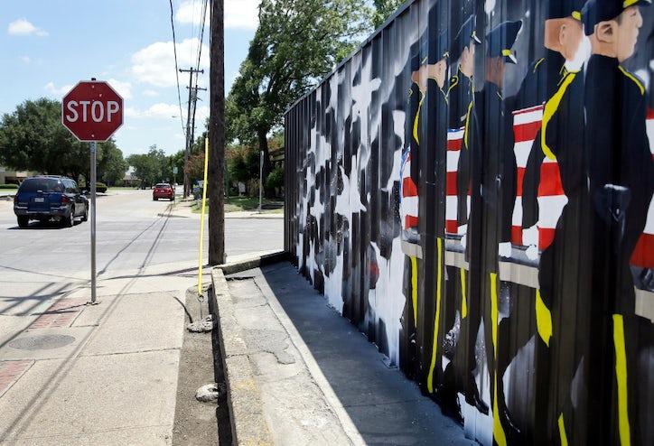 Fence With Mural Honoring Dallas Ambush Victims Violates