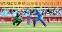 India captain Mithali Raj bats during an ICC Women's World Cup 2017 match between India and Pakistan at County Ground in Derby, England. (Rui Vieira/The Associated Press)