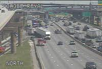 Crash on I-35E and Royal Lane(TxDOT)