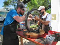 Delta Bike Project, in the LoDa district of downtown Mobile, offers free help and parts for anyone into bicycling. (Robin Soslow)