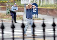 "On Dec. 4, 2016, Edgar Maddison Welch of Salisbury, N.C., surrendered to police in Washington, D.C. Welch, who walked into a Washington pizzeria with an assault rifle to investigate internet rumors dubbed ""pizzagate,"" was sentenced in June to four years in prison.(Sathi Soma/The Associated Press)"