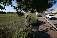 Site of the once-proposed Sam's Club east of North Central Expressway.(Rose Baca/Staff Photographer)