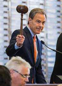 Speaker Joe Straus gaveled the House into special session Tuesday.(Ashley Landis/Staff Photographer)