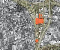 Investor Mike Hoque bought the properties in orange along Cesar Chavez Boulevard.(FAQ Global)