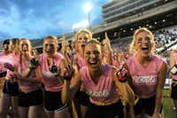 Blondes cheer at last year's Blondes vs. Brunettes game at the Cotton Bowl.(Alexandra Olivia/Special Contributor)