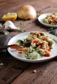 Cilantro-Goat Cheese Cauliflower Rice(Rose Baca/Staff Photographer)