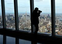 A view of Manhattan is seen from the One World Observatory May 20, 2015. AFP PHOTO  / TIMOTHY A. CLARYTIMOTHY A. CLARY/AFP/Getty Images(TIMOTHY A. CLARY/AFP/Getty Images)