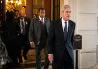 Robert Mueller, the former FBI director and special counsel leading the Russia investigation, leaves after closed meetings with the Senate Judiciary Committee on Capitol Hill. (Doug Mills/The New York Times)