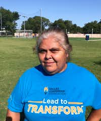 Maria Andrande, who has lived in Jubilee, a neighborhood in Southern Dallas, for 20 years said she plans on getting mental health services being offered by Jubilee Park & Community Center(TyLisa C Johnson/Dallas Morning News)
