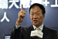 Terry Gou, chairman of Taiwan's Foxconn, said earlier this year that Pennsylvania was a leading candidate for its U.S. plant(Sam Yeh/Agence France-Presse)