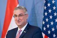 Indiana Gov. Eric Holcomb has been willing to push generous tax incentives to lure business.(Szilard Koszticsak/The Associated Press)