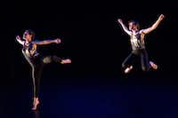 In June, Emily Bernet (left) and Taylor Rodman performed <i>Meant to be Seen</i>, one of the first pieces they choreographed together, at a dance festival in Houston.(Lynn Lane)