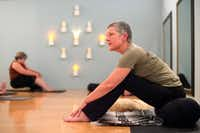 Charla Truesdale, president and co-founder of the non-profit Warrior Spirit Project leads a trauma-sensitive yoga session on Friday, July 21, 2017 at Studio 4 in the Bishop Arts Co-op in Dallas. Warrior Spirit Project seeks to help military veterans and first-responders heal from trauma through yoga, a support dog program, and gardening. (Jeffrey McWhorter/Special Contributor)(Jeffrey McWhorter/Special Contributor)