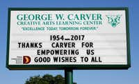 <p>For more than 60 years Carver elementary served children from West Dallas, mostly from nearby public housing developments.</p>(David Woo/Staff Photographer)