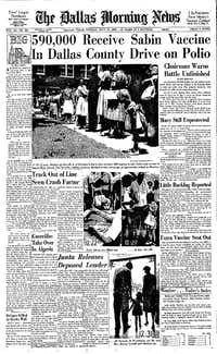 <i>The Dallas Morning News</i> had extensive coverage of the effort after the initial day of mass vaccinations.