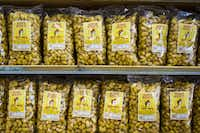 Shelves fully stocked with Beaver Nuggets at Buc-ee's.(Smiley N. Pool/Staff Photographer)