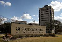 University of Texas Southwestern Medical Center along Harry Hines Blvd. in Dallas is participating in a national non-consent medical study involving cardiac-arrest patients. But not all the patients know it.(Brad Loper/Staff Photographer)