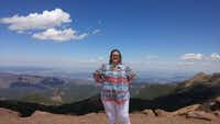 Margaret Davis, shown here outside Colorado Springs, weighed 301 pounds at her heaviest. She began her fitness journey after making a promise to her dying friend.(Abi Davis)