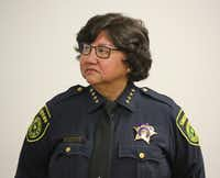 Dallas County Sheriff Lupe Valdez is evaluating options for what to do if the jail has a shortage of trusties.(Louis DeLuca/Staff Photographer)