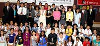 Winners gathered with their trophies after the annual youth speech contest put on by the D-FW chapter of the Chinese Institute of Engineers USA. (Courtesy CIE-DFW)