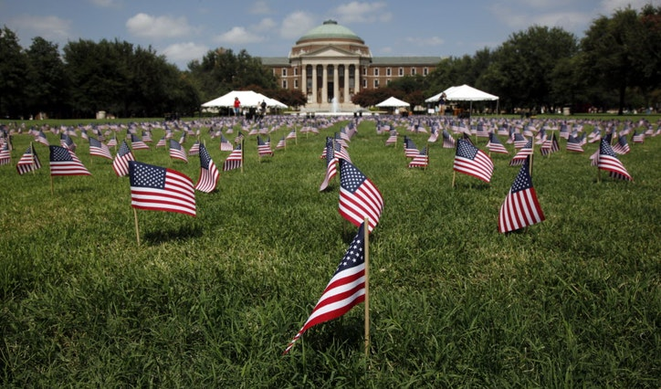 Image result for SMU flags 9/11