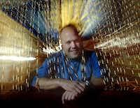 Dallas novelist Will Clarke at The Velvet Hookah in Deep Ellum in 2005.((DMN file/Nathan Hunsinger)/)