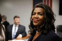 <p>Faith Johnson took on the Palma family's case against B&B Acquisition before she became the district attorney for Dallas County. </p>(Nathan Hunsinger/Staff Photographer)