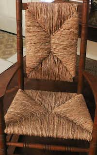 A finished rocking chair by Mike Turrentine (Ron Baselice/Staff Photographer)