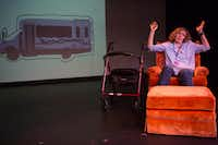 Sherry Jo Ward wrote and stars in an autobiographical, one-woman show, <i>Stiff</i>, which was a hit at the Festival of Independent Theatres at the Bath House Cultural Center in Dallas.(Ryan Michalesko/Staff Photographer)