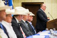 Thomas Homan, acting ICE director, appeared at this week's convention in Grapevine of the Sheriffs' Association of Texas.(Ashley Landis/The Dallas Morning News)