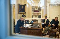 President Donald Trump spoke by phone with Australian Prime Minister Malcolm Turnbull in late January, shortly after taking office.(Drew Angerer/Getty Images)
