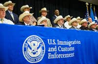 Eighteen Texas sheriffs signed new 287(g) agreements from U.S. Immigration and Customs Enforcement on Monday at the Gaylord Texan in Grapevine.&nbsp;<div><br></div>(Ashley Landis/Staff Photographer)